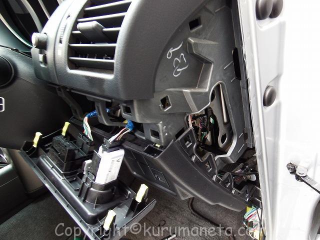 150系プラドの運転席側の内貼りの剥がし方