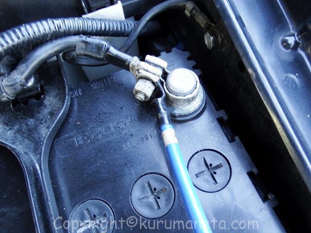 後期型インプレッサスポーツワゴンのバッテリー交換