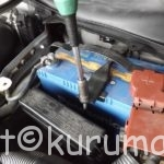 Z33型フェアレディZのバッテリー交換方法